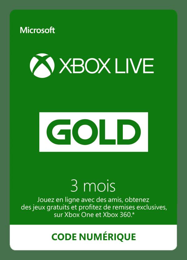 Abonnement Xbox Live Gold 3 mois