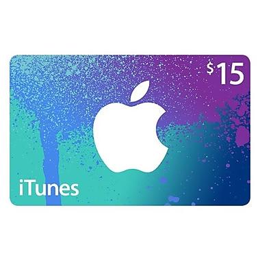 Carte iTunes 15$