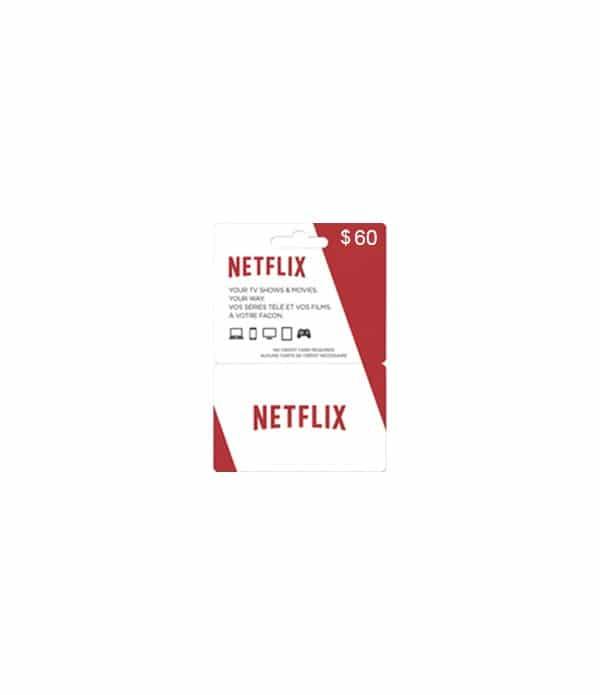 abonnement NETFLIX 60$