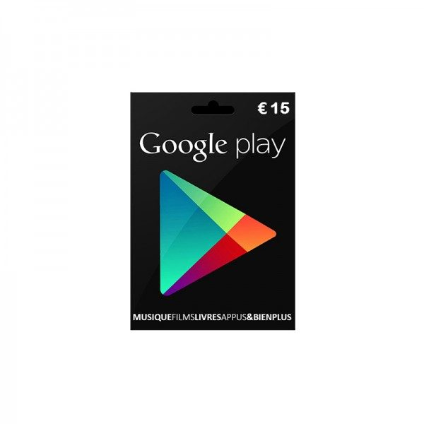 carte google play 15€