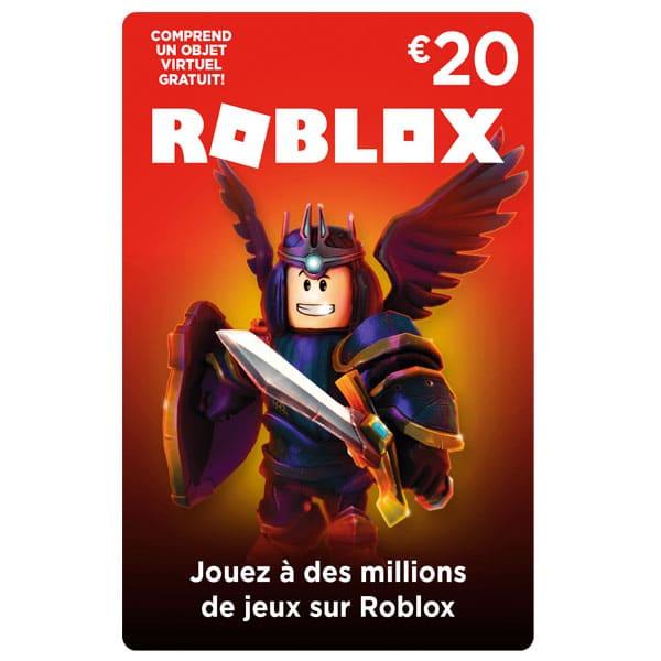 carte roblox 20€