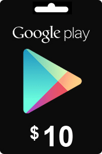 Carte Google Play 10$